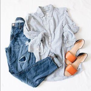 Soft half button shirt